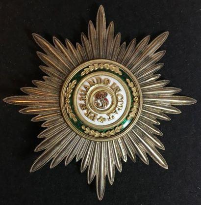 Ordre de Saint-Stanislas, plaque de 1re classe...