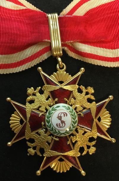 Ordre de Saint-Stanislas, croix de 2e classe,...