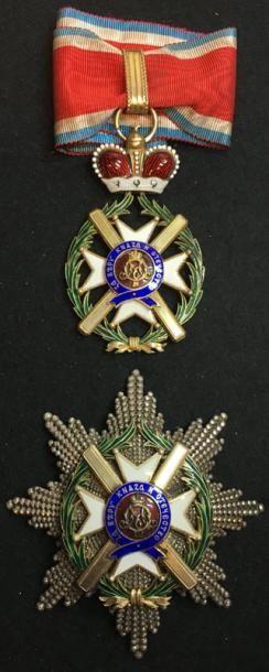 Ordre de la Croix de Takovo, fondé en 1865,...