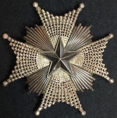 Ordre de l'Étoile du Nord, plaque de grandcroix...