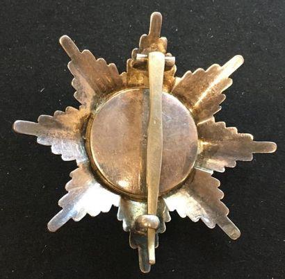 Grand-duché de Mecklembourg-Schwerin - Ordre du Griffon, fondé en 1884, plaque de...