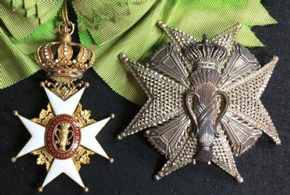 Ordre de Vasa, ensemble de grand-croix du...