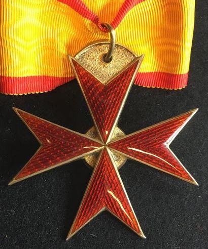 Grand-duché de Mecklembourg-Schwerin - Ordre du Griffon, croix de commandeur en...