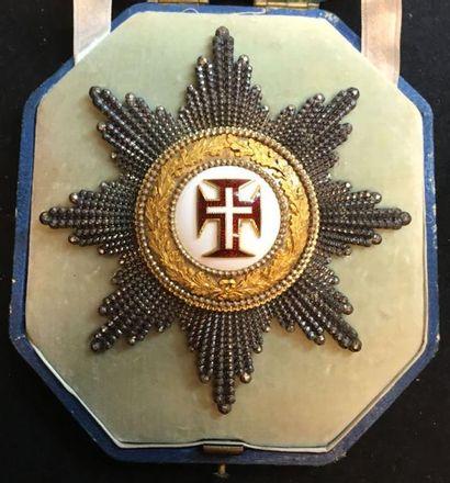 Ordre du Christ, plaque de chevalier en argent...