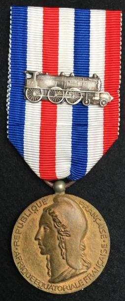 Médaille d'honneur des chemins de fer coloniaux...
