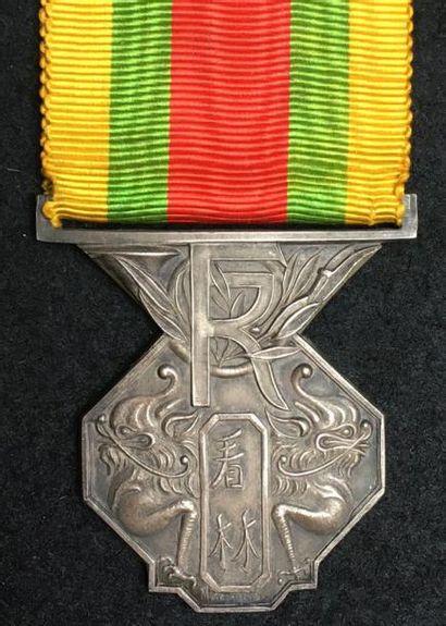 Médaille du personnel des Forêts de l'Indochine,...