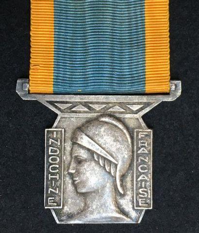 Médaille de la Garde Indigène, créée en 1929,...