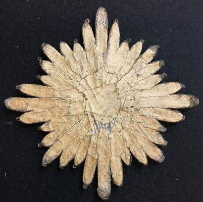 ROYAUME DE PRUSSE Ordre de l'Aigle noir, fondé en 1701, plaque de chevalier brodée,...