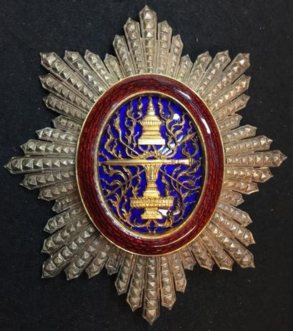 Ordre Royal du Cambodge, fondé en 1863, plaque...