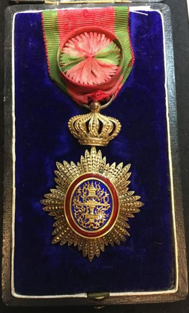 Ordre Royal du Cambodge, bijou d'officier...