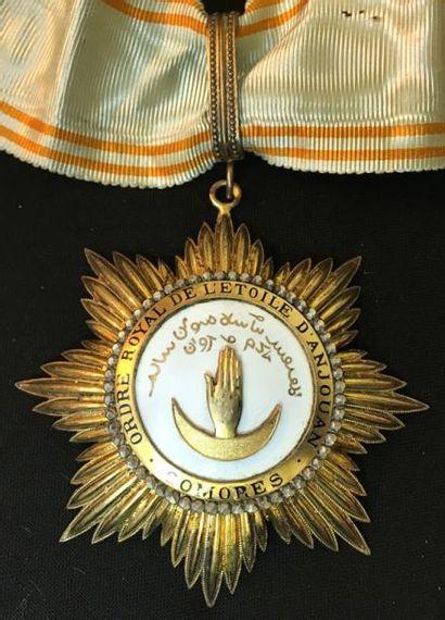 Ordre de l'Étoile d'Anjouan, fondé en 1874,...
