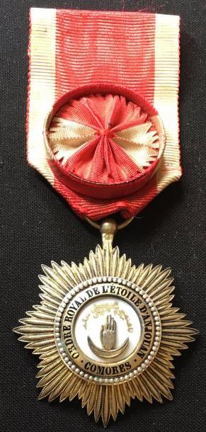 Ordre de l'Étoile d'Anjouan, étoile d'officier...
