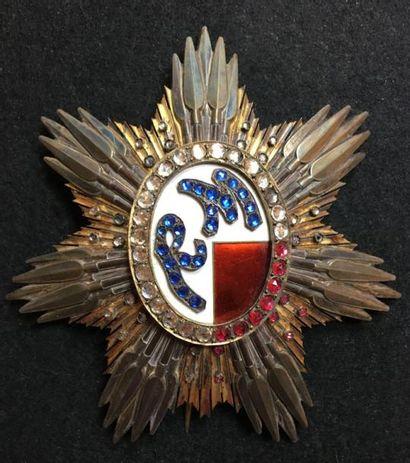 Ordre de Ranavalo, fondé en 1896, plaque...