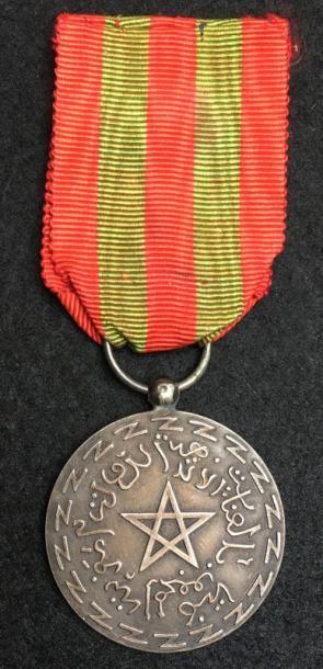 Médaille d'honneur de la Police Chérifienne,...
