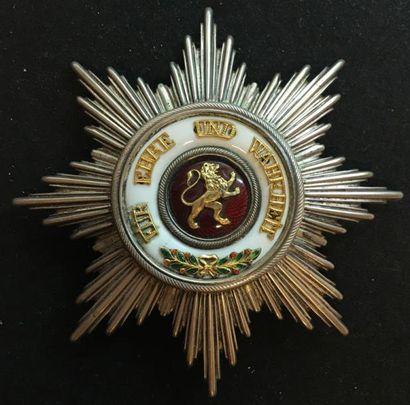 Grand-duché de Bade - Ordre du Lion de Zähringen,...