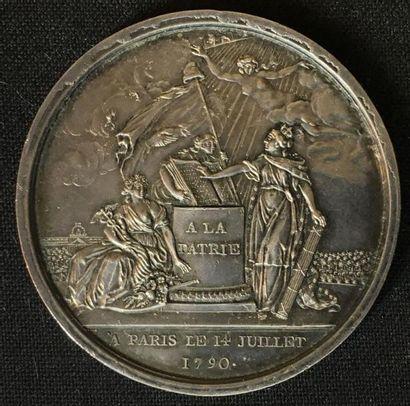 14 juillet 1790, médaille de la Fête de la...