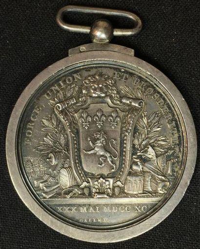 30 mai 1790, médaille de la Fédération Martiale...