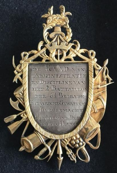 République Batave, important insigne d'honneur...