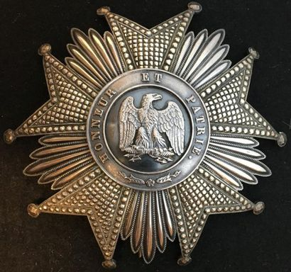 Second Empire, plaque de grand-croix en argent,...