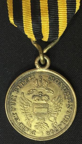 Médaille de mérite des troupes hongroises pour la guerre de Silésie, 1748, médaille...