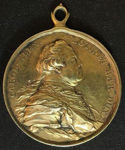 PAYS-BAS MÉRIDIONAUX Prix des Académies de Beaux- Arts, médaille portable en vermeil...