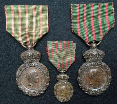 Médaille de Sainte-Hélène, créée en 1857,...
