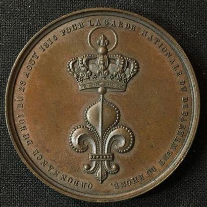 Décoration du Lys pour la garde Nationale...