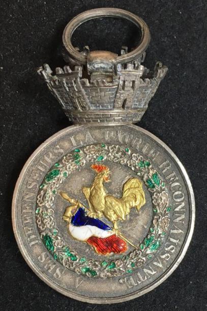 Médaille de Juillet, modèle de luxe en argent,...