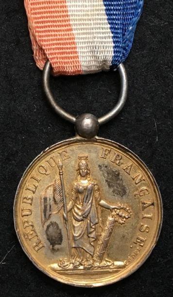 Médaille des blessés de 1848, en argent doré,...