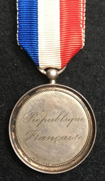 Médaille patriotique en argent gravée sur...