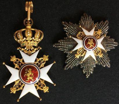 Ordre de Saint-Olaf, fondé en 1847, ensemble...