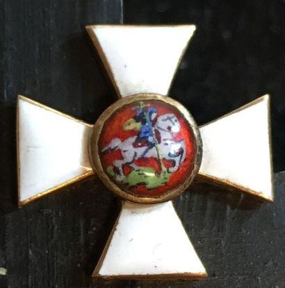 Ordre de Saint-Georges, petite croix uniface...