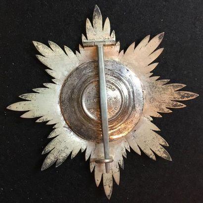 Grand-duché de Hesse - Ordre de Louis, fondé en 1807, plaque de grand-croix en argent,...