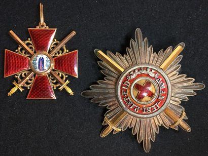 Ordre de Sainte-Anne, ensemble de 1re classe...