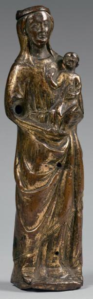 Statuette de Vierge couronnée à l'Enfant...