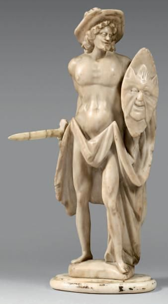 Statuette en albâtre représentant Persée...