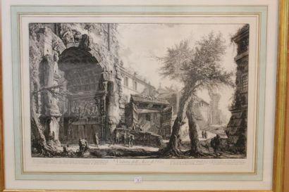 Giovanni Battista PIRANESI Veduta del'arco di Tito, planche de la suite des Vues...