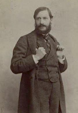 Jean-Louis FORAIN (1852-1931) Au café Riche Huile sur toile. (Éraflure au-dessus...