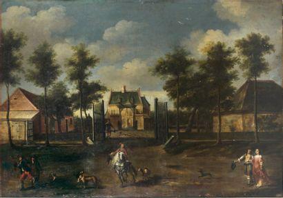 ÉCOLE HOLLANDAISE du XVIIe siècle, entourage de Jan van der HEYDEN (1637-1712)
