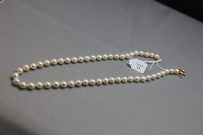 Collier de cinquante-et-une perles de culture...