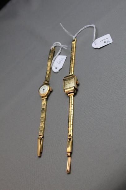Lot comprenant: montre bracelet de dame,...