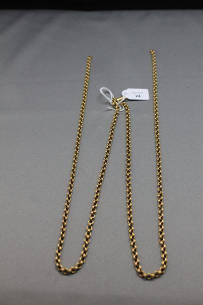 Collier articulé en or jaune 750 millièmes...