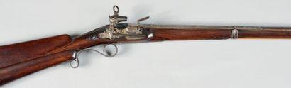 Beau fusil de chasse à silex espagnol de...