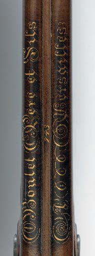 Fusil de chasse double, de «Boutet à Versailles», à silex transformé à percussion,...