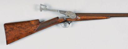 Rare et long fusil canardier système «Robert»,...