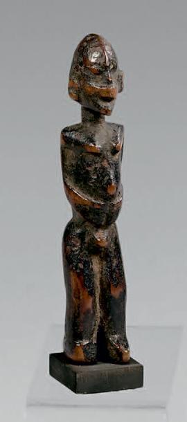 Statuette Lobi, Burkina Faso. Bois à patine...