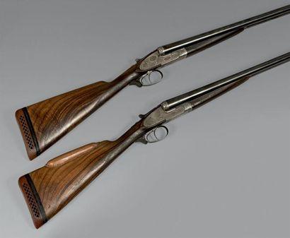 Paire de fusils à platines système Purdey,...