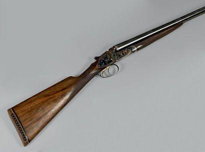 Fusil de chasse à platines, deux coups, calibre...