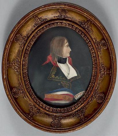 VILLERS - École française du XXe siècle Le Général Bonaparte, en buste de profil,...