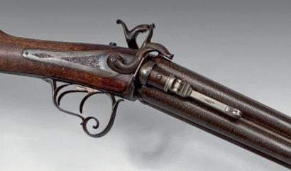 Rare fusil de chasse à système à broche,...